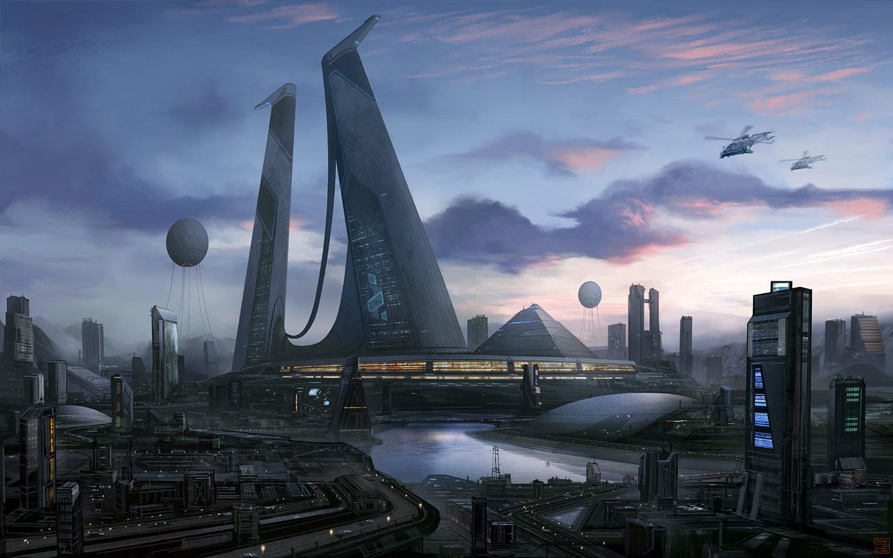 paisajes futuristas