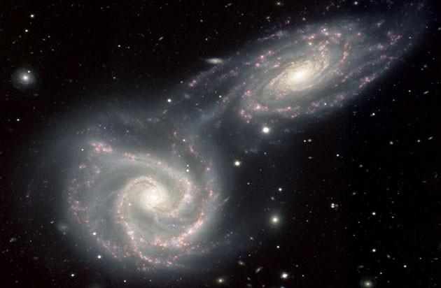 Resultado de imagen de Andrómeda y la Vía Láctea se fusiona