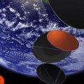 Idean central espacial para recoger energía del sol