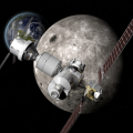 Planes para construir una estación orbital lunar